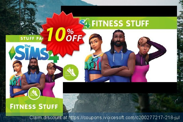 The Sims 4 - Fitness Stuff Pack PC discount 10% OFF, 2021 New Year offering deals