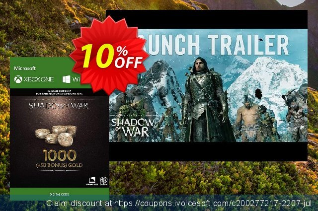 Middle-Earth: Shadow of War - 1050 Gold Xbox One discount 10% OFF, 2020 College Student deals offering sales