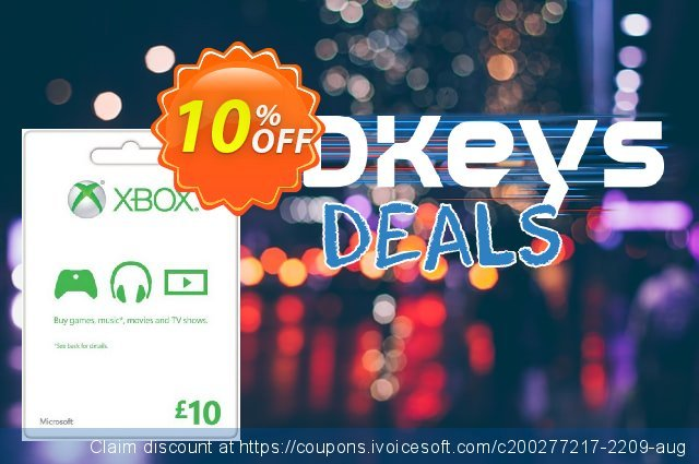 Microsoft Gift Card - £10 (Xbox One/360) discount 10% OFF, 2021 Selfie Day promo. Microsoft Gift Card - £10 (Xbox One/360) Deal