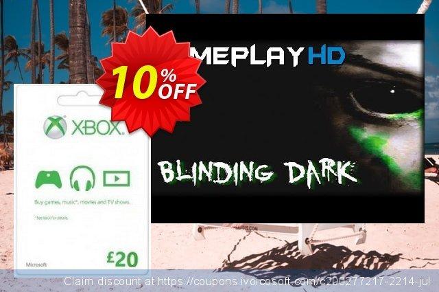 Microsoft Gift Card - £20 (Xbox One/360)  멋있어요   매상  스크린 샷