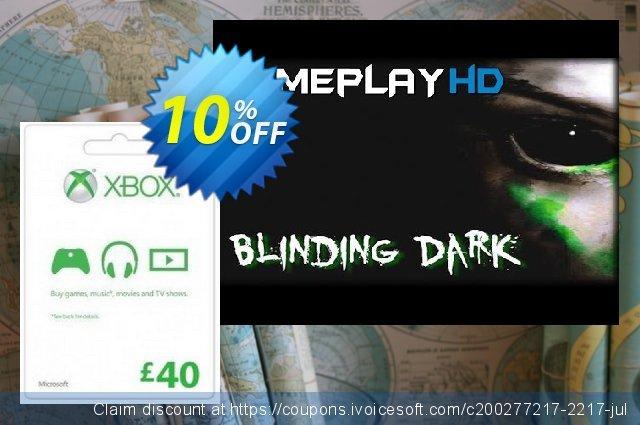 Microsoft Gift Card - £40 (Xbox One/360)  위대하   가격을 제시하다  스크린 샷