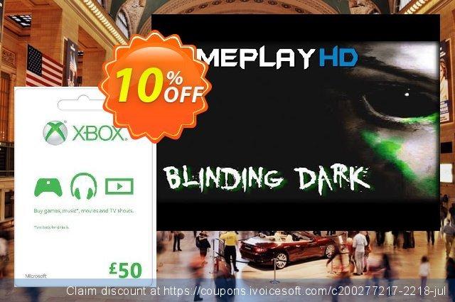 Microsoft Gift Card - £50 (Xbox One/360)  훌륭하   할인  스크린 샷