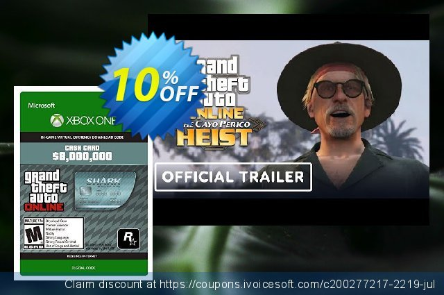 GTA V 5 Megalodon Shark Cash Card - Xbox One Digital Code discount 10% OFF, 2020 Thanksgiving Day offering discount