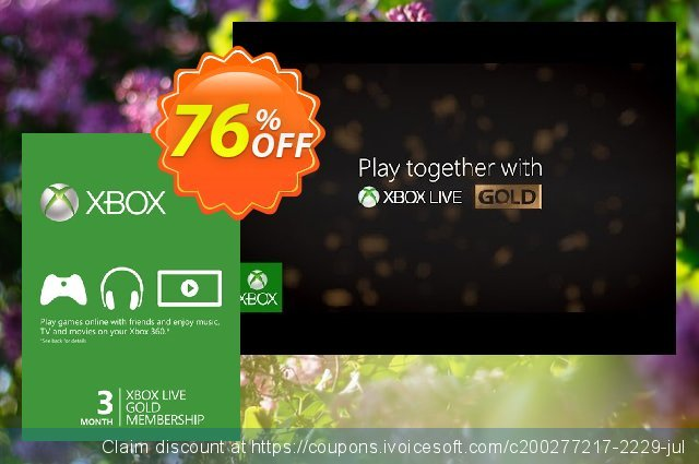 3 Month Xbox Live Gold Membership Card (Xbox One/360) discount 20% OFF, 2020 Halloween offering sales