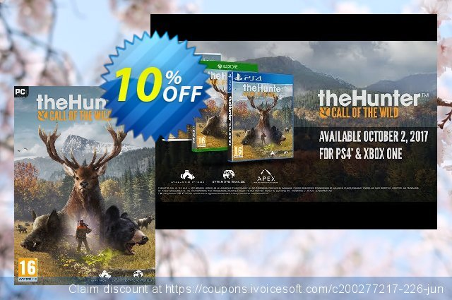 The Hunter Call of the Wild PC discount 10% OFF, 2020 Student deals offer