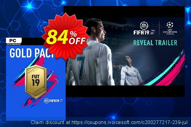 FIFA 19 - Jumbo Premium Gold Packs DLC PC 可怕的 促销 软件截图