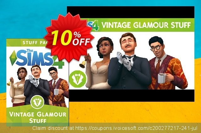 The Sims 4 - Vintage Glamour Stuff PC discount 10% OFF, 2021 Mother's Day offering sales. The Sims 4 - Vintage Glamour Stuff PC Deal