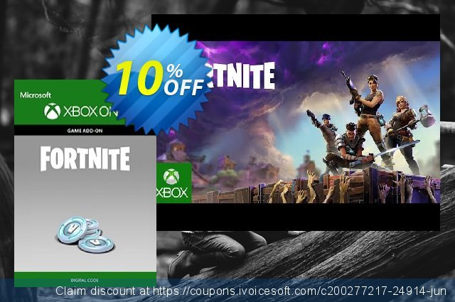 Fortnite - 1000 V-Bucks Xbox One discount 10% OFF, 2021 Library Lovers Month offering sales