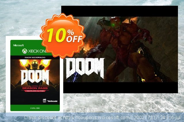 DOOM Season Pass (Xbox One) discount 10% OFF, 2021 Rose Day offering sales