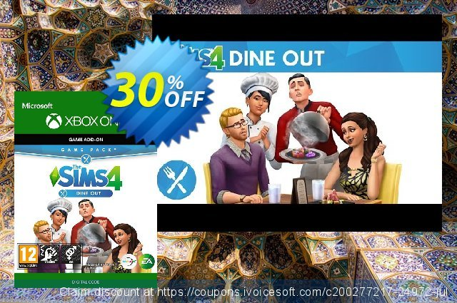 The Sims 4 - Dine Out Game Pack Xbox One 令人敬畏的 产品销售 软件截图