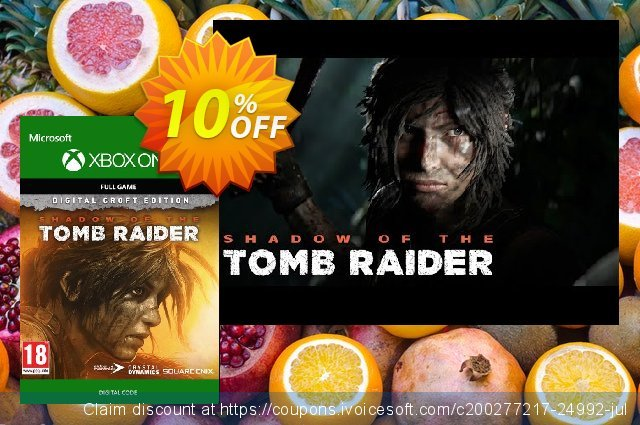Shadow of the Tomb Raider Croft Edition Xbox One discount 10% OFF, 2021 New Year's Day offering sales