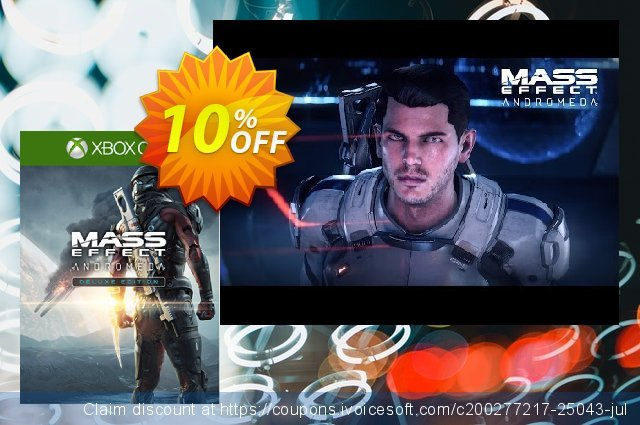 Mass Effect Andromeda Deluxe Edition Xbox One discount 10% OFF, 2021 Valentine's Day offering sales
