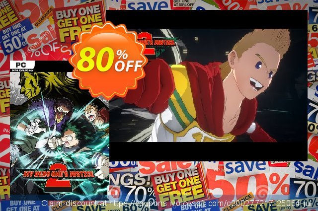 My Hero One's Justice 2 PC + DLC discount 50% OFF, 2021 Mother Day offering sales. My Hero One's Justice 2 PC + DLC Deal