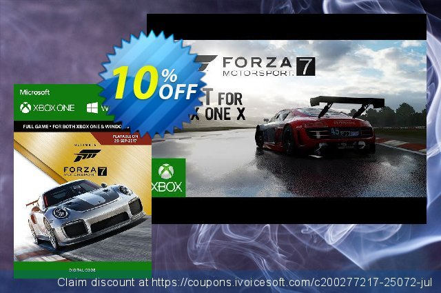 Forza Motorsport 7 Ultimate Edition Xbox One/PC discount 10% OFF, 2020 University Student deals promo