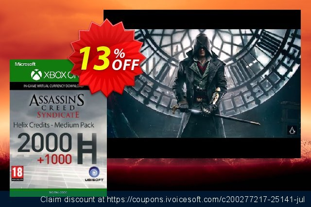 Assassin's Creed Syndicate - Helix Credit Medium Pack Xbox One discount 13% OFF, 2021 National Women month offering sales