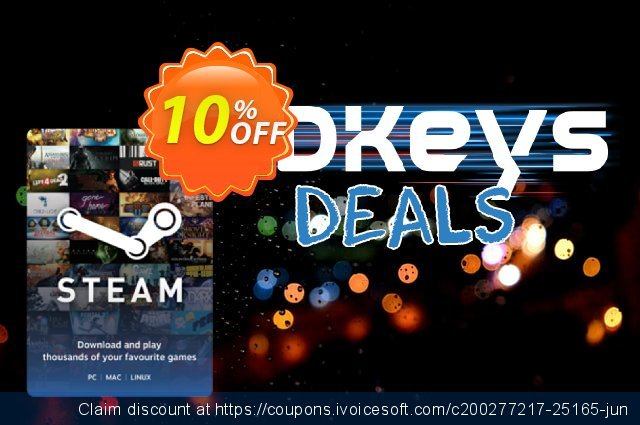 Steam Wallet Top-up 10 GBP discount 10% OFF, 2020 Thanksgiving promo
