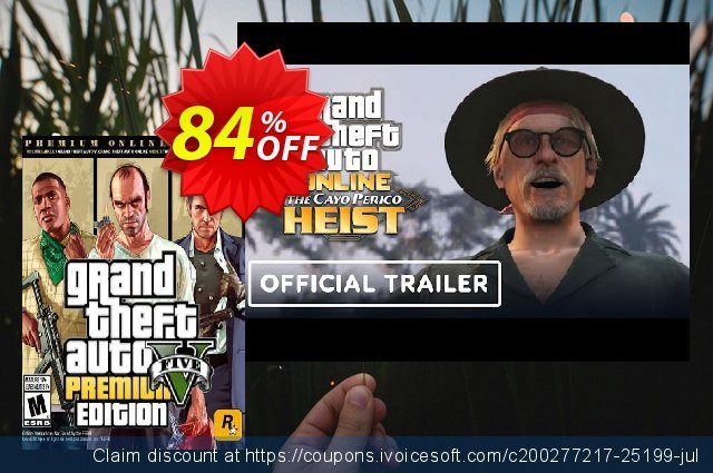 Grand Theft Auto V 5 (GTA 5): Premium Online Edition PC  훌륭하   가격을 제시하다  스크린 샷