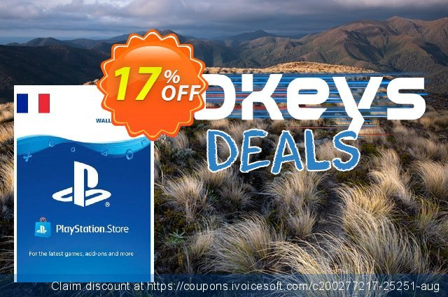 PlayStation Network (PSN) Card - 50 EUR (France) discount 12% OFF, 2020 Black Friday promotions