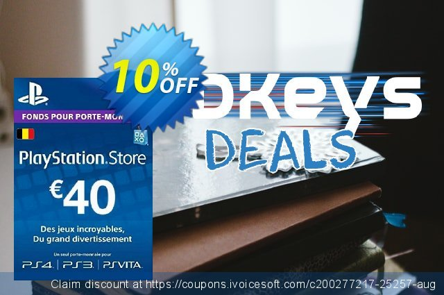 PlayStation Network (PSN) Card - 40 EUR (Belgium) discount 10% OFF, 2021 New Year offering sales