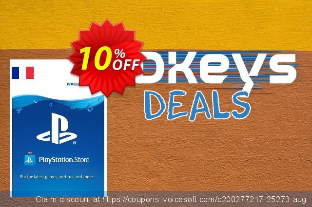PlayStation Network (PSN) Card - 20 EUR (France) discount 10% OFF, 2020 Thanksgiving offer