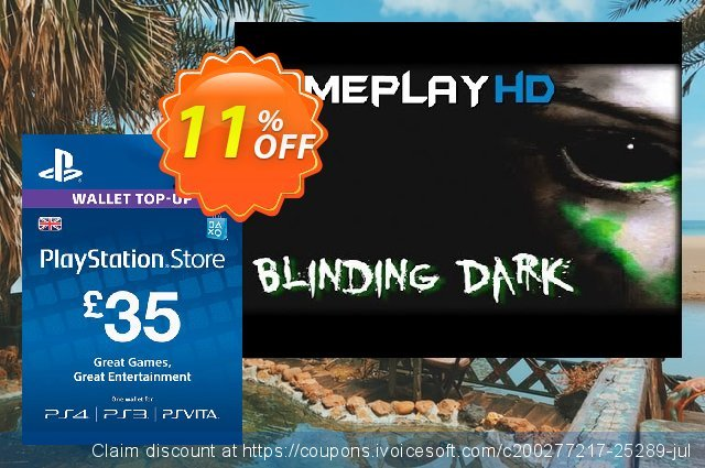 Playstation Network Card - £35 (PS Vita/PS3/PS4) discount 11% OFF, 2020 Halloween discounts