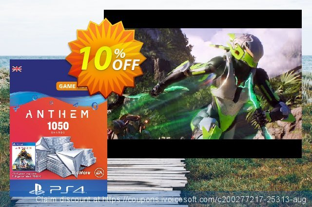 Anthem 1050 Shards PS4 (UK) discount 10% OFF, 2021 National Women month offering sales