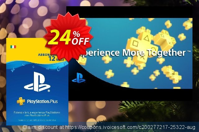 PlayStation Plus (PS+) - 12 Month Subscription (Italy) discount 17% OFF, 2020 Exclusive Teacher discount offering sales