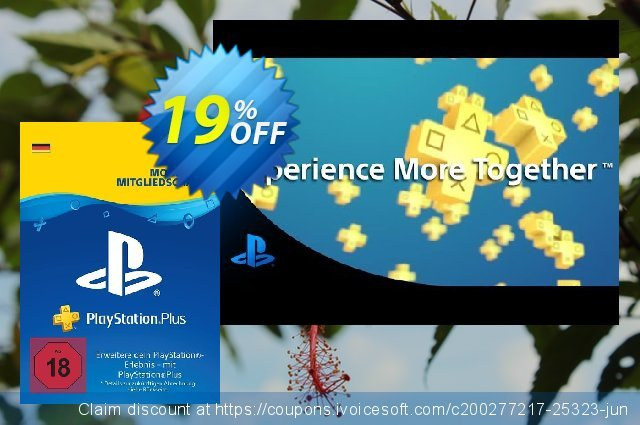 PlayStation Plus (PS+) - 12 Month Subscription (Germany) discount 16% OFF, 2020 University Student offer offering sales
