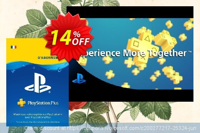 PlayStation Plus (PS+) - 12 Month Subscription (France) discount 19% OFF, 2020 University Student deals offering sales