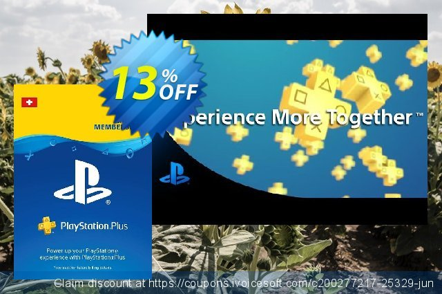 PlayStation Plus (PS+) - 3 Month Subscription (Switzerland) discount 13% OFF, 2020 College Student deals promotions