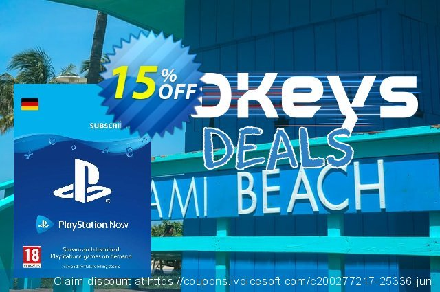 PlayStation Now 1 Month Subscription (Germany) 特殊 产品销售 软件截图