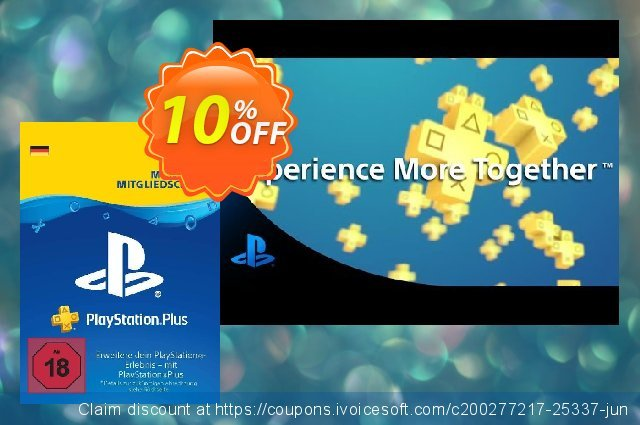 PlayStation Plus (PS+) - 3 Month Subscription (Germany) discount 10% OFF, 2020 Halloween promo