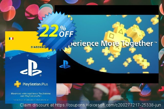 PlayStation Plus (PS+) - 3 Month Subscription (France) discount 12% OFF, 2020 Back to School coupons promo