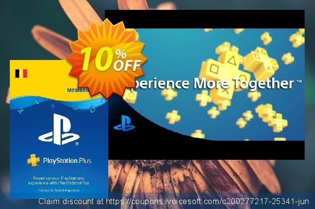 Playstation Plus (PS+) - 3 Month Subscription (Belgium) discount 10% OFF, 2020 Student deals offering sales
