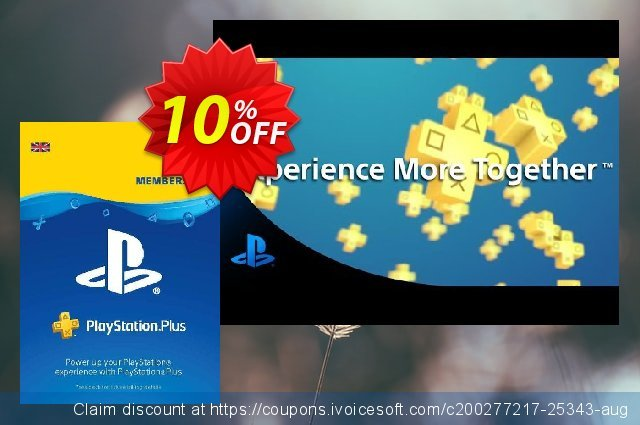PlayStation Plus (PS+) - 1 Month Subscription (UK) discount 10% OFF, 2020 Exclusive Teacher discount offering sales