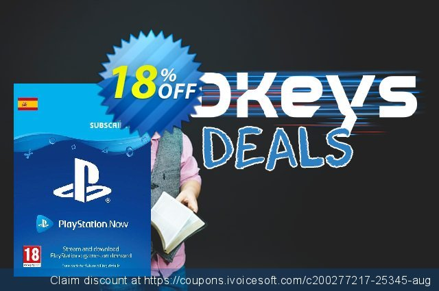 PlayStation Now 12 Month Subscription (Spain) discount 18% OFF, 2021 Flag Day offering sales. PlayStation Now 12 Month Subscription (Spain) Deal