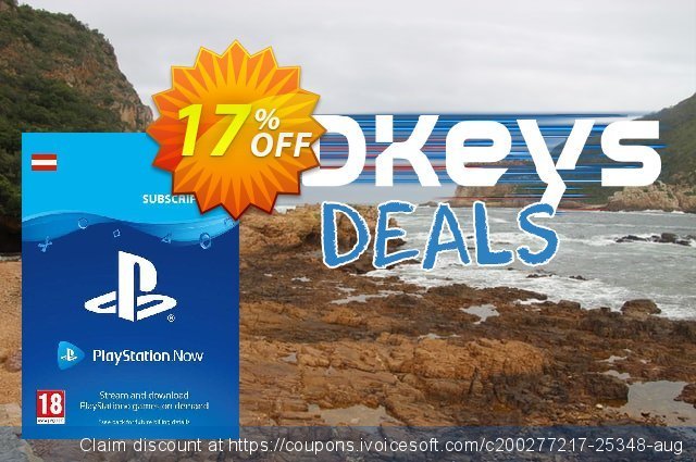 PlayStation Now 12 Month Subscription (Austria) discount 17% OFF, 2021 Hug Day offering sales