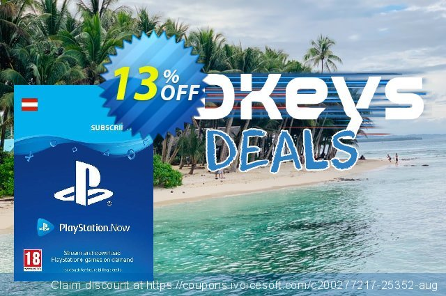 PlayStation Now 3 Month Subscription (Austria) discount 13% OFF, 2021 Selfie Day sales. PlayStation Now 3 Month Subscription (Austria) Deal