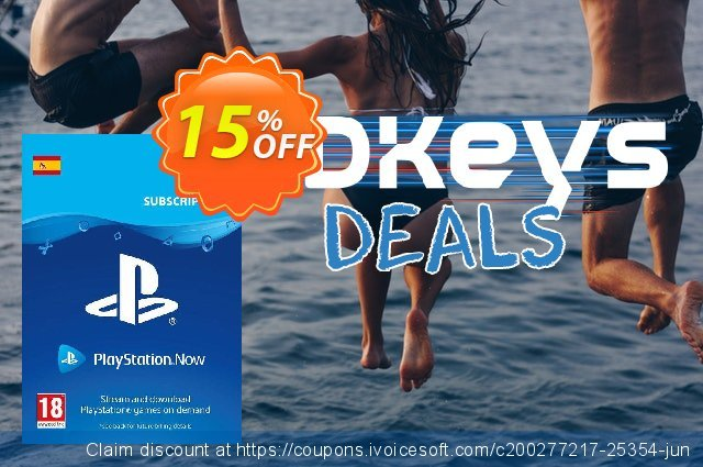 PlayStation Now 1 Month Subscription (Spain) discount 15% OFF, 2021 Library Lovers Month discounts