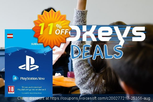 PlayStation Now 1 Month Subscription (Austria) discount 11% OFF, 2021 Midsummer offering discount. PlayStation Now 1 Month Subscription (Austria) Deal