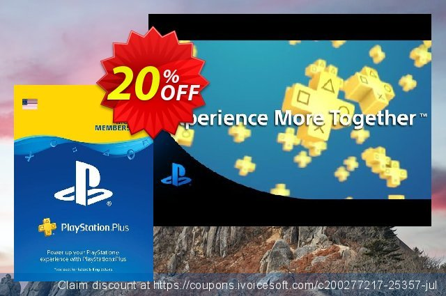 3 Month Playstation Plus Membership (PS+) - PS3/ PS4/ PS Vita Digital Code (USA) discount 35% OFF, 2020 Back to School shopping promo