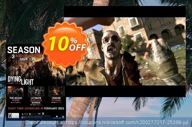 Dying Light Season Pass PC discount 10% OFF, 2021 National Women month offering sales