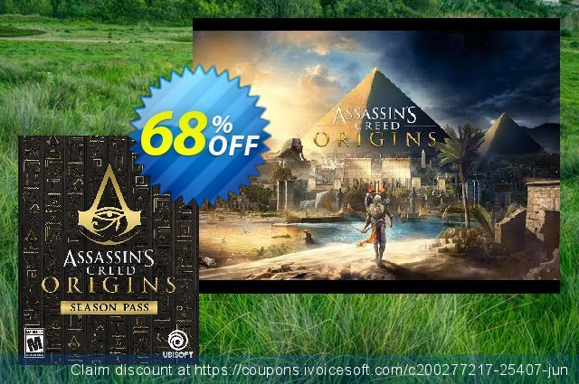 Assassins Creed Origins Season Pass PC discount 60% OFF, 2021 Daylight Saving offering sales