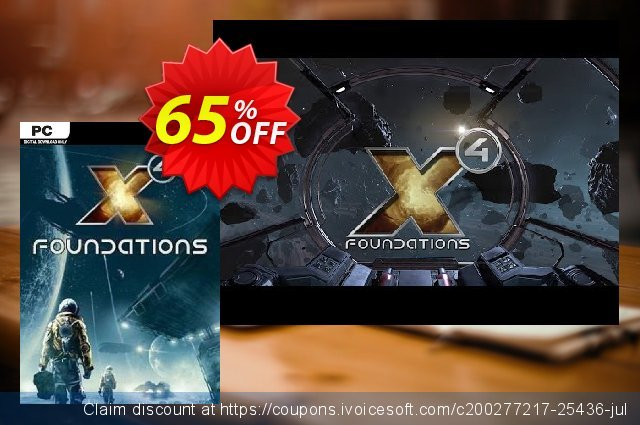 X4 : Foundations PC discount 30% OFF, 2021 Women Day offering sales