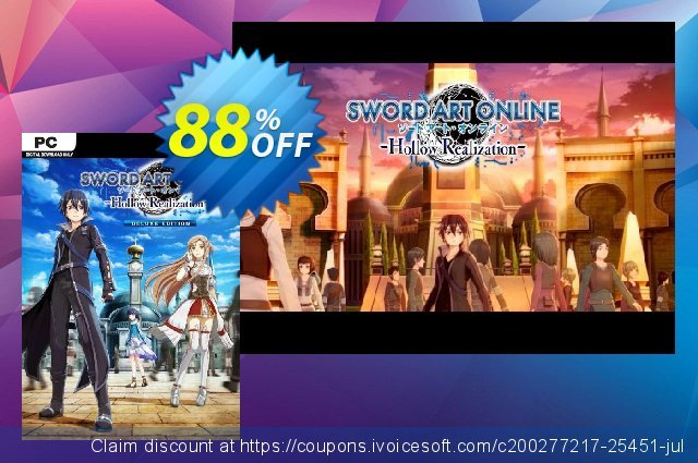 Sword Art Online: Hollow Realization Deluxe Edition PC discount 79% OFF, 2020 New Year's Day offering sales