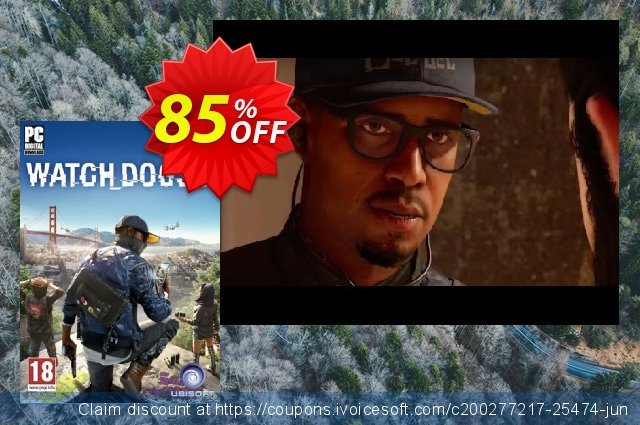 Watch Dogs 2 PC discount 74% OFF, 2021 Earth Hour offering sales