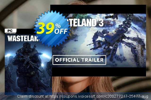 Wasteland 3 PC discount 39% OFF, 2021 National Women month promo