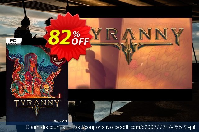 Tyranny Deluxe Edition PC discount 61% OFF, 2021 Chocolate Day offering sales