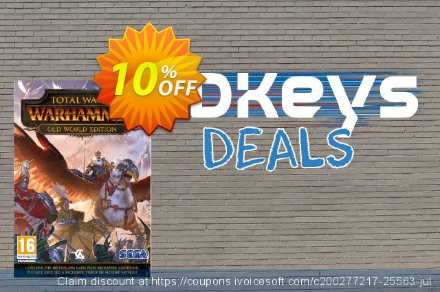 Total War Warhammer - Old World Edition PC discount 10% OFF, 2021 Library Lovers Month discounts