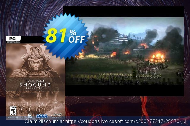 Total War: Shogun 2 - Collection PC discount 80% OFF, 2021 New Year's Weekend offering discount